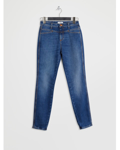 Skinny Pusher Easy Mid Blue Wash
