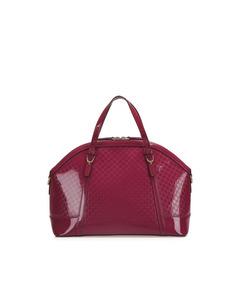 Gucci Microguccissima Nice Patent Leather Satchel Pink