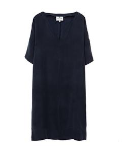 Ava Cupro Dress Deep Marine Blue