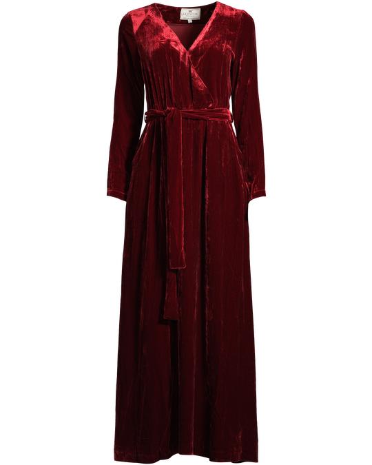 Lexington Veronica Velvet Long Dress Red Dahlia