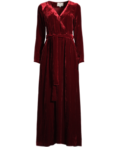 Veronica Velvet Long Dress Red Dahlia