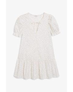 Flounce Hem Mini Dress Floral Print