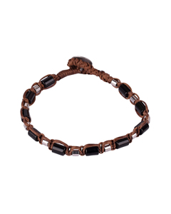Sabah Bracelet Brown/black/stainless Steel