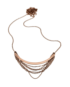 Draper Necklace Long Rose Gold
