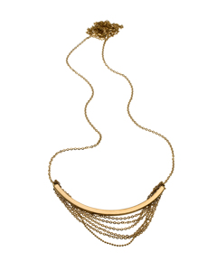 Draper Necklace Long Matt Gold