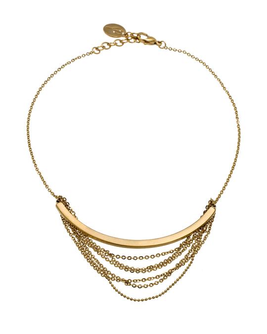 Edblad Draper Necklace Short Matt Gold