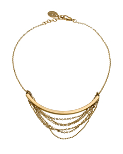 Draper Necklace Short Matt Gold