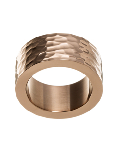 Materia Ring Hammered Rose Gold