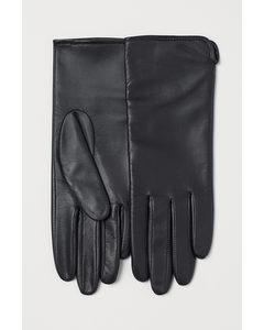Handskar I Läder Svart