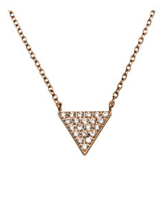 Mountain Necklace Long Rose Gold