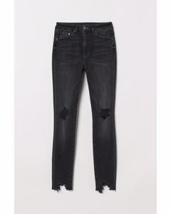 Embrace High Ankle Jeans Svart/trashed