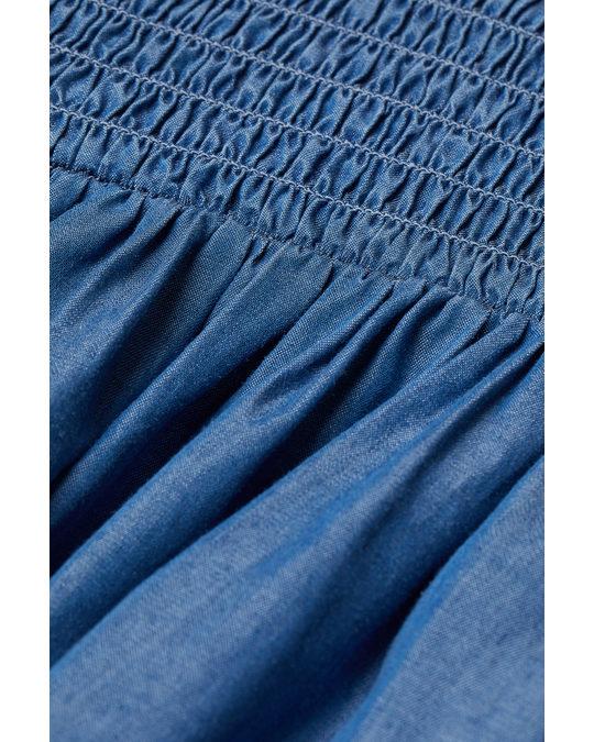 H&M Kleid aus Lyocell Blau