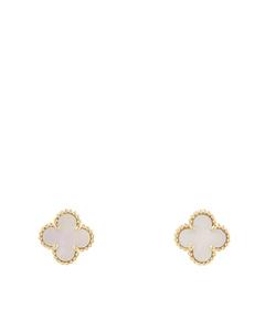 Van Cleef And Arpels 18k Sweet Alhambra Earrings Gold