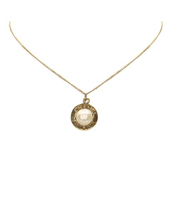 Chanel Faux Pearl Necklace Gold