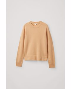 Knitted Lambswool Top Beige