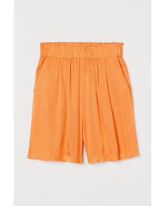 Shorts aus Lyocellmix Orange