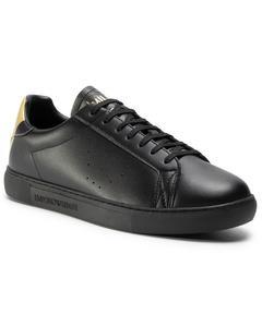 Sneakers Flats Svart Gammalt Guldtryck