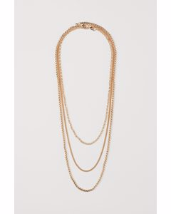 3-pack Necklaces Gold-coloured