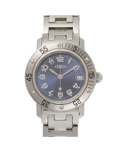 Hermes Clipper Diver Watch Silver