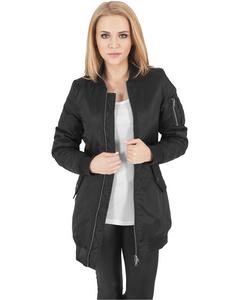 Damen Ladies Long Bomber Jacket