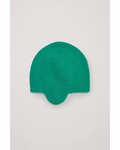 Cashmere Ear Cover Beanie Green
