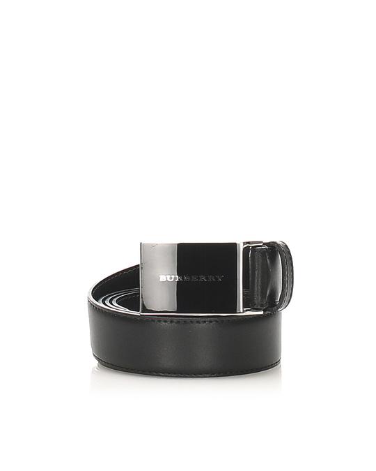 Burberry Burberry Leather Belt Black