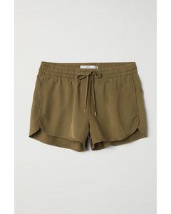 Shorts I Lyocell Khakigrön