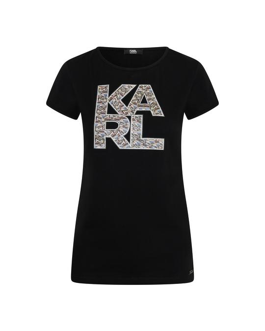 Karl Lagerfeld Karl Lagerfeld Library Logo Shirt Black