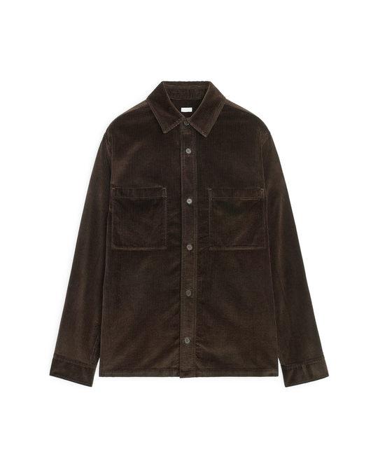 Arket Corduroy Overshirt Brown