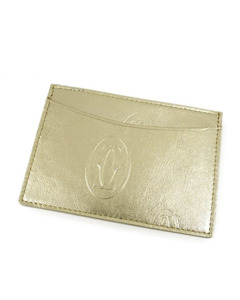 Cartier Happy Birthday Leather Card Holder Gold