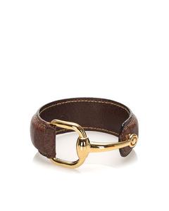 Gucci Horsebit Leather Bracelet Black