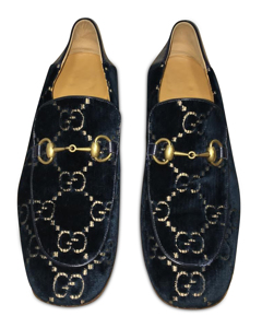 Blue Jordaan Gg Velvet Loafer
