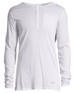 Bamboo Ls Henley Shirt Space White