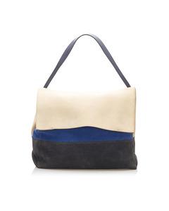 Celine All Soft Suede Shoulder Bag Brown
