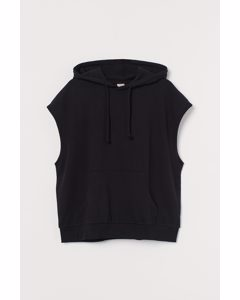 H&m+ Mouwloze Capuchonsweater Zwart