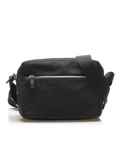 Bvlgari Logomania Canvas Crossbody Bag Black
