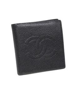 Chanel Cc Caviar Leather Wallet Black