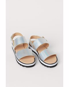 Sandalen Silberfarben