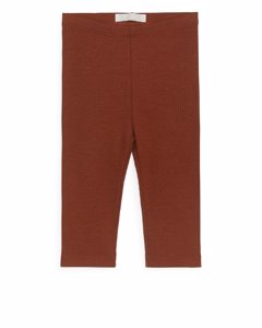 Cotton Lyocell Leggings Terracotta