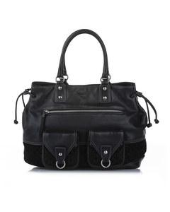 Loewe Anagram Leather Tote Bag Black