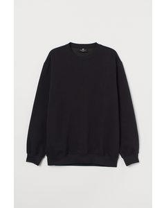 Sweater - Relaxed Fit Zwart