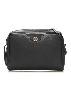 Dior Honeycomb Coated Canvas Crossbody Bag Black