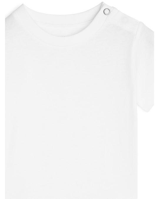 Arket T-Shirt mit Rundhalsausschnitt Weiß