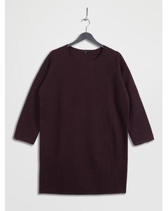 Knitted Boiled Wool Dress Burgundy