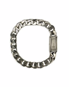 Gucci Sterling Silver Gourmette Chain Unisex Bracelet