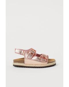 Sandaler I Läder Roséguld