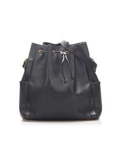 Gucci Leather Bucket Bag Black