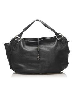 Celine Bittersweet Leather Hobo Bag Black