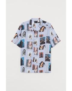 Casual Overhemd Met Dessin Wit/aaliyah