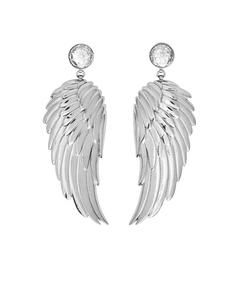 Angel Earrings Large Cz Steel